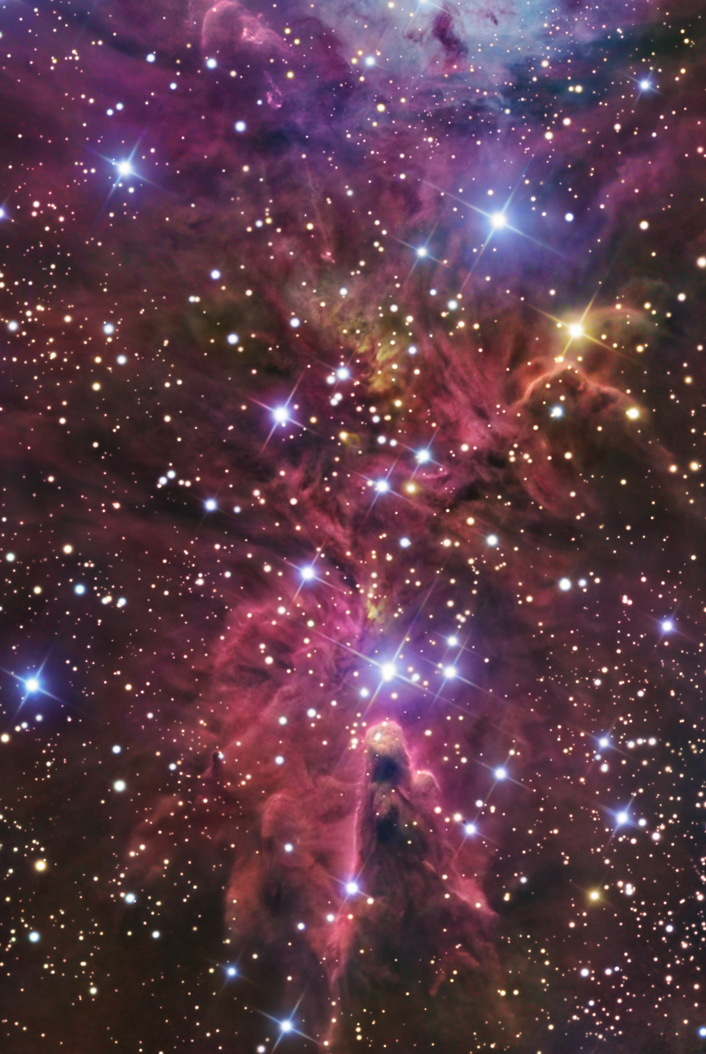 NGC 2264- the Cone Nebula- detail